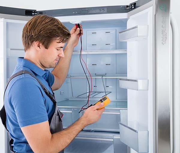 روند سرویس یخچال در محل
