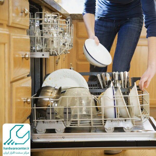 تمیز نشستن ماشین ظرفشویی